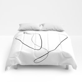 minimal abstract folded arms Comforters