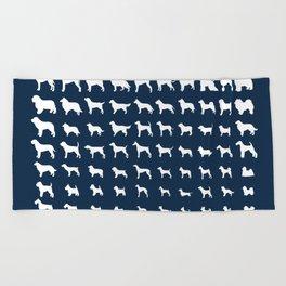 All Dogs (Navy) Beach Towel