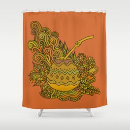 Yerba Mate In The Gourd Shower Curtain