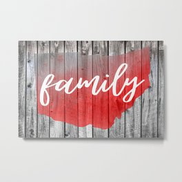 Ohio Map Family Barn Wall Painting Metal Print