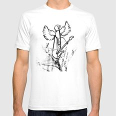 ROCKIN ROBIN SMALL White Mens Fitted Tee