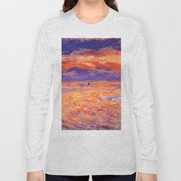 "Auguste Renoir ""Sunset at sea"" Long Sleeve T-shirt"
