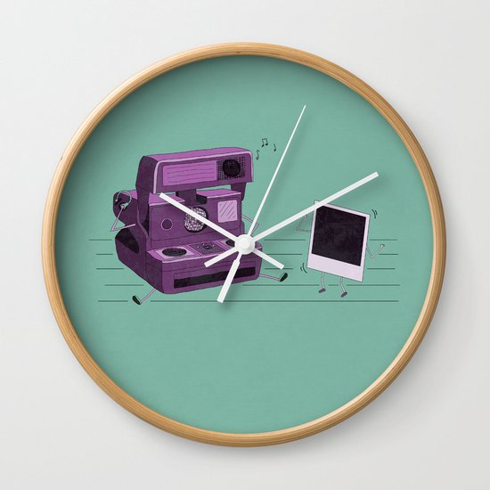Shake It Like A Polaroid Picture Wall Clock