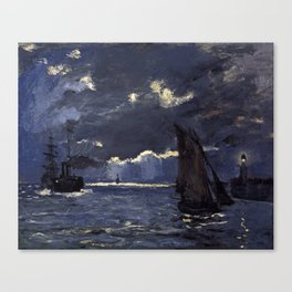 Claude Monet - A Seascape, Shipping by Moonlight Canvas Print
