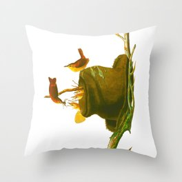 House Wren Bird Throw Pillow