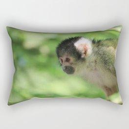 Small Monkey Close Up Rectangular Pillow