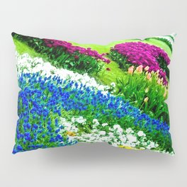 Multicolored tulips. Pillow Sham