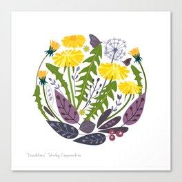 DANDELIONS PRINT Canvas Print