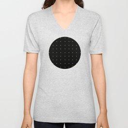 Black & Cream Polka Dots Unisex V-Neck