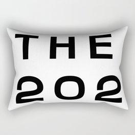 202 Washington DC Area Code Typography Rectangular Pillow