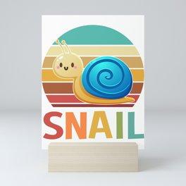 vintage retro snail gifts Mini Art Print