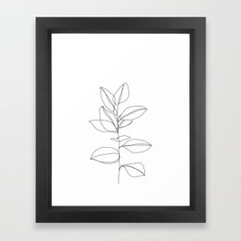 One line plant illustration - Dany Framed Art Print