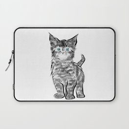 Scruffy Maine Coon Kitten Laptop Sleeve