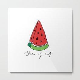 Watermelon - Slice of Life Metal Print