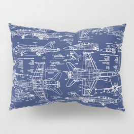 F-18 Blueprints Pillow Sham