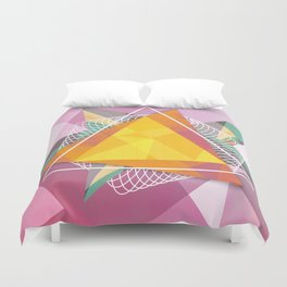 Tangled triangles Duvet Cover