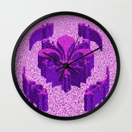 Florentine Purple Garden Wall Clock