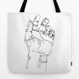 Ink doodle hand #2 Tote Bag