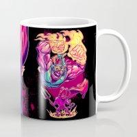 diablo Mugs featuring LUCHADORO VS EL DIABLO by BeastWreck