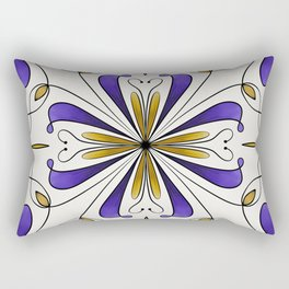 Tile of Dreams - Purple Rectangular Pillow