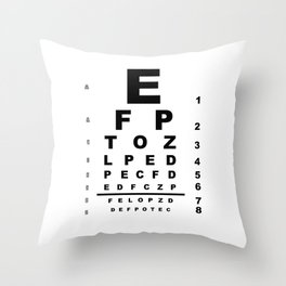 Eye Test Chart Throw Pillow