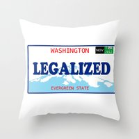 washington Throw Pillows featuring WASHINGTON by Jayrosco