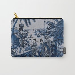 17th Century Delftware Chinoiserie Carry-All Pouch
