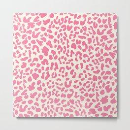 Pink Leopard Print Metal Print