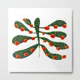 Modern Holiday Tree Red Green Christmas Decoration Metal Print