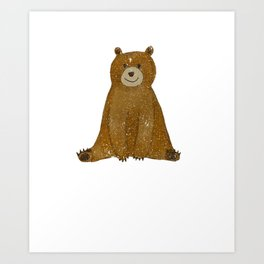Cute Bear I Love You Like No Otter Funny Art Print