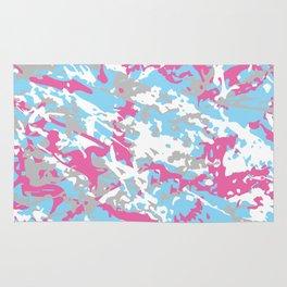 LGBT Light Pastel Urban Camouflage Rug