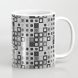 Abstract Pattern Black and White Squere Mosaic Coffee Mug