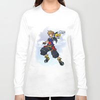 kingdom hearts Long Sleeve T-shirts featuring Kingdom Hearts 2 - Sora by Outer Ring
