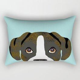 Brindle Boxer pet portrait cute dog lover rescue dog lover Boxer portrait dog breeds Rectangular Pillow