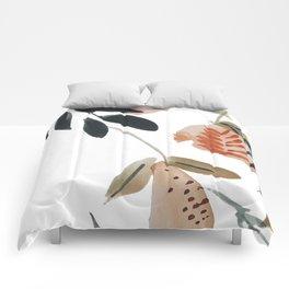 Pear Peach Orange Tree Comforters