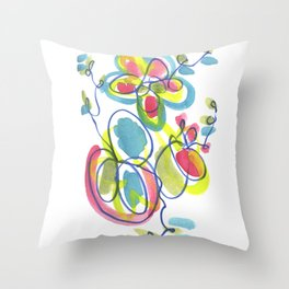 Entwining Vines Throw Pillow