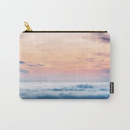 Aqua Peach Vanishing Horizon Carry-All Pouch