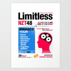 Limitless NZT 48 Pill Exist! Bradley Cooper / Robert De Niro (2nd Version) Art Print