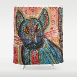 Bossa Nova KittyKat Shower Curtain