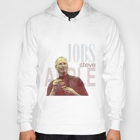 steve jobs Hoodies featuring Steve Jobs by Thomas Official