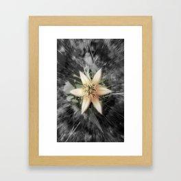 BW flower Framed Art Print