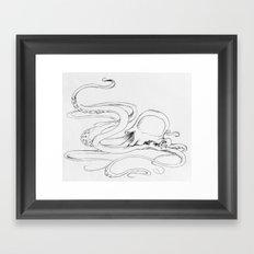 Jellyfish-man Framed Art Print