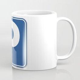 Blue Parking Sign Coffee Mug