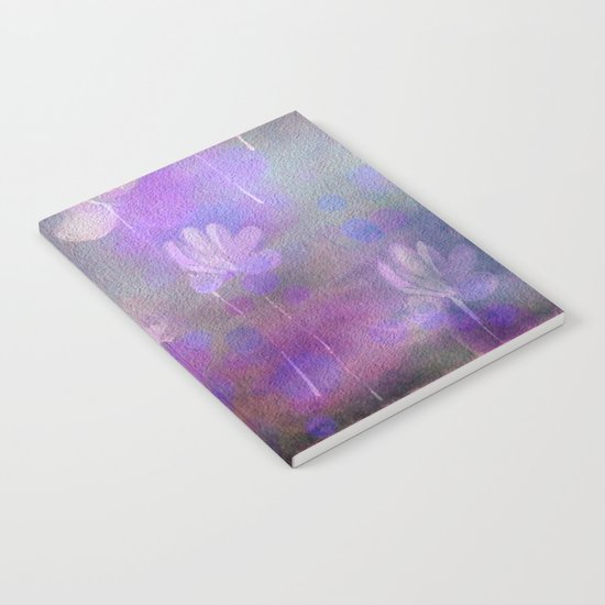 Painterly Dancing Violets Abstract Notebook