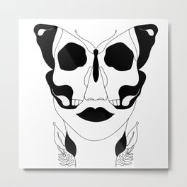 Deadly Flutter Metal Print