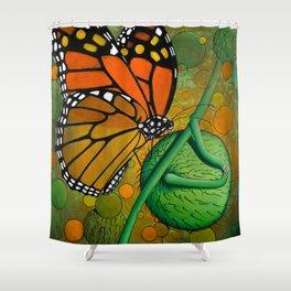 Monarch & Swan Plant Shower Curtain
