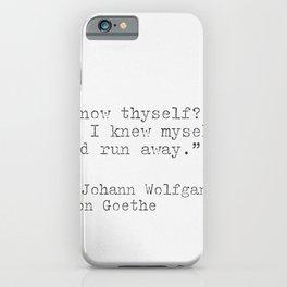Johann Wolfgang von Goeth philosophy quote iPhone Case