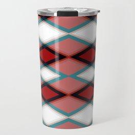 Diamond Pattern Design Travel Mug