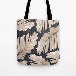 Sepia Banana Leaves Dream #1 #foliage #decor #art #society6 Tote Bag