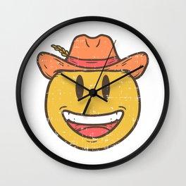 Cowboy Rancher cattleman  Smiley Gift Wall Clock